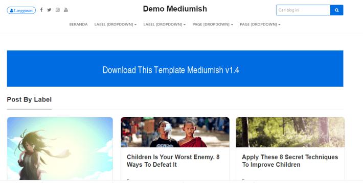 Mediumish Versi Blogger