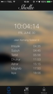 jadwal imsakiyah pada aplikasi shollu