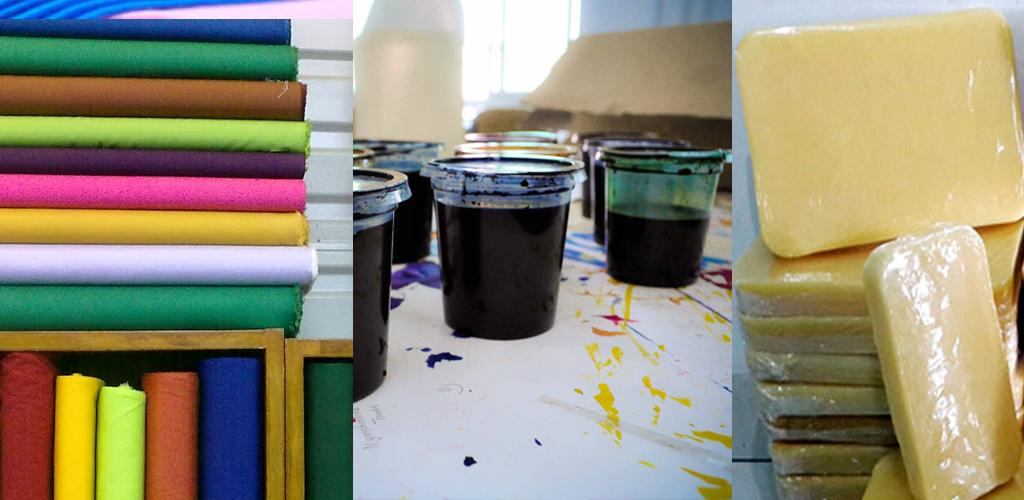 jenis-jenis kain, malam dan pewarna batik