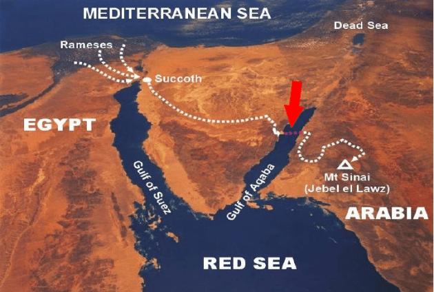 Kisah Tongkat Nabi Musa Membelah Laut Merah: Tempat Menyeberang Nabi Musa