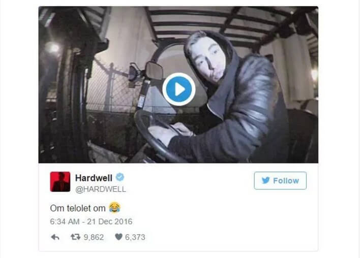 Apa itu om telolet om artinya adalah twitter dari Hardwell