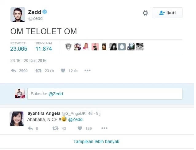 Apa itu om telolet om menghebohkan netizen dunia Zedd