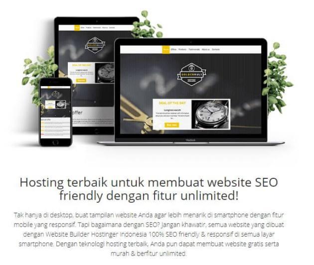 Layanan Web Builder dari Hostinger