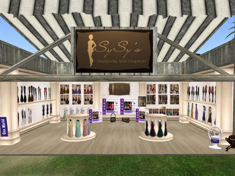 wonderful designed stores at the clothing fair