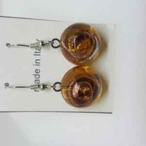 Trasparente oorringen amber gold