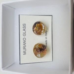 Trasparente studs - amber gold