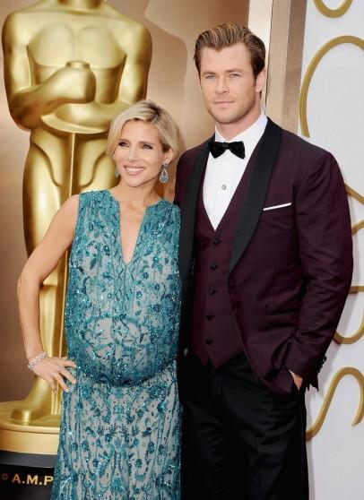 Chris Hemsworth Elsa Pataky Oscars 2014 Red Carpet