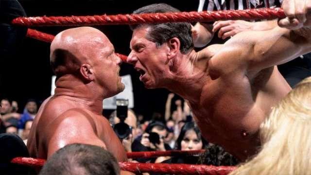 Austin vs. McMahon feud WWF Attitude Era