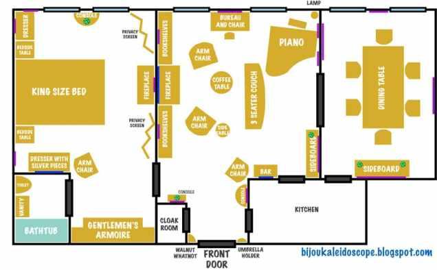 Bertie Wooster's Floor Plan