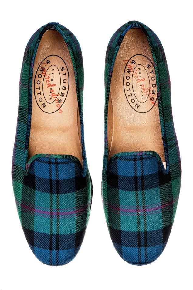 Scot Meacham Wood x Stubbs & Wooton Tartan Slipper