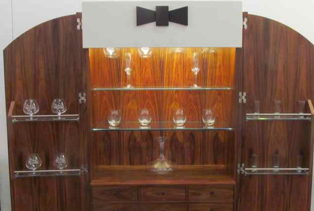 The Three-Button, Bow-Tied Armoire Bar