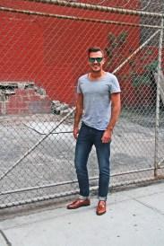 T- Shirt - H&M, Jeans - Levi's, Shoes - Allen Edmonds, Sunglasses - Oakley