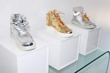 Metallic Nikes look like Jeff Koons