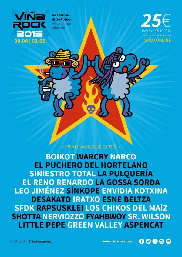cartel del viña rock 2015