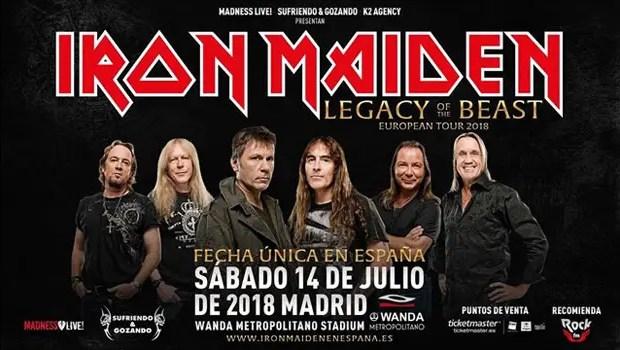 Iron Maiden En Madrid 2018 En El Wanda Entradas Y Detalles