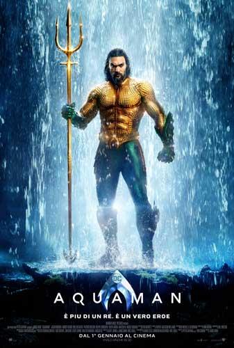 il poster italiano del film Aquaman