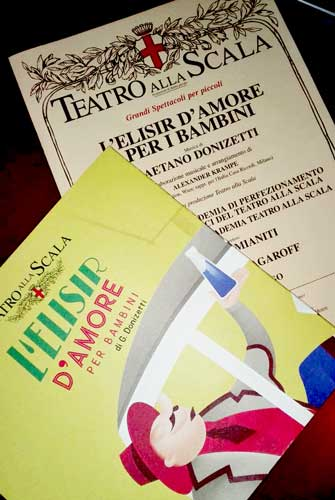 lo spettacolo L'elisir d'amore per bambini al Teatro alla Scala di Milano