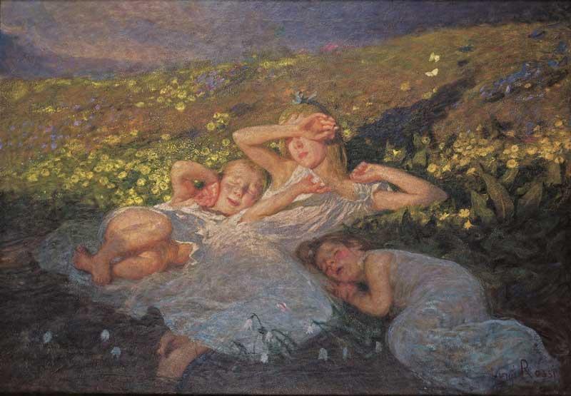 Arte e Arti: Luigi Rossi, Primi Raggi (1900-1905 circa) - Capriasca, Casa Museo Luigi Rossi