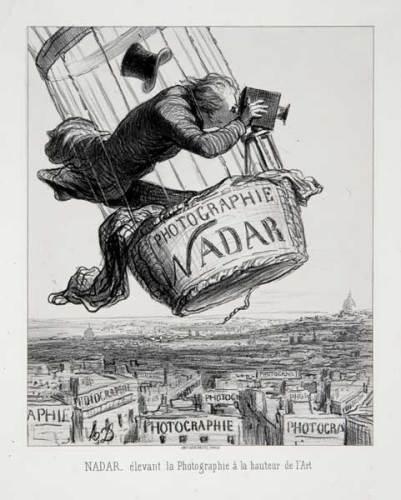 """Arte e Arti: Honoré Daumier, Nadar élevant la Photographie à la hauteur de l'Art in """"Le Boulevard"""" (1862)"""