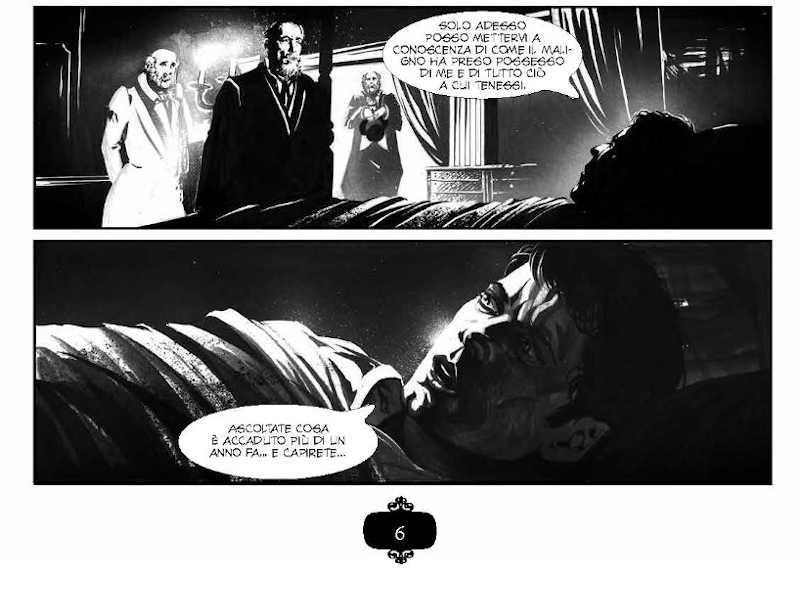 Dalla tavola 6 di John Polidori – Il Vampiro. Photo Courtesy: Nicola Pesce Editore