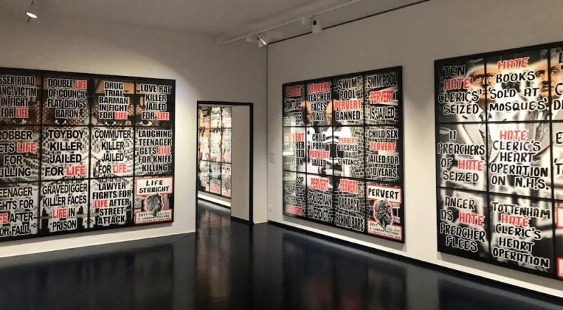 Una sala della mostra The Locarno Exhibition al museo Casa Risca. Photo by MaSeDomani