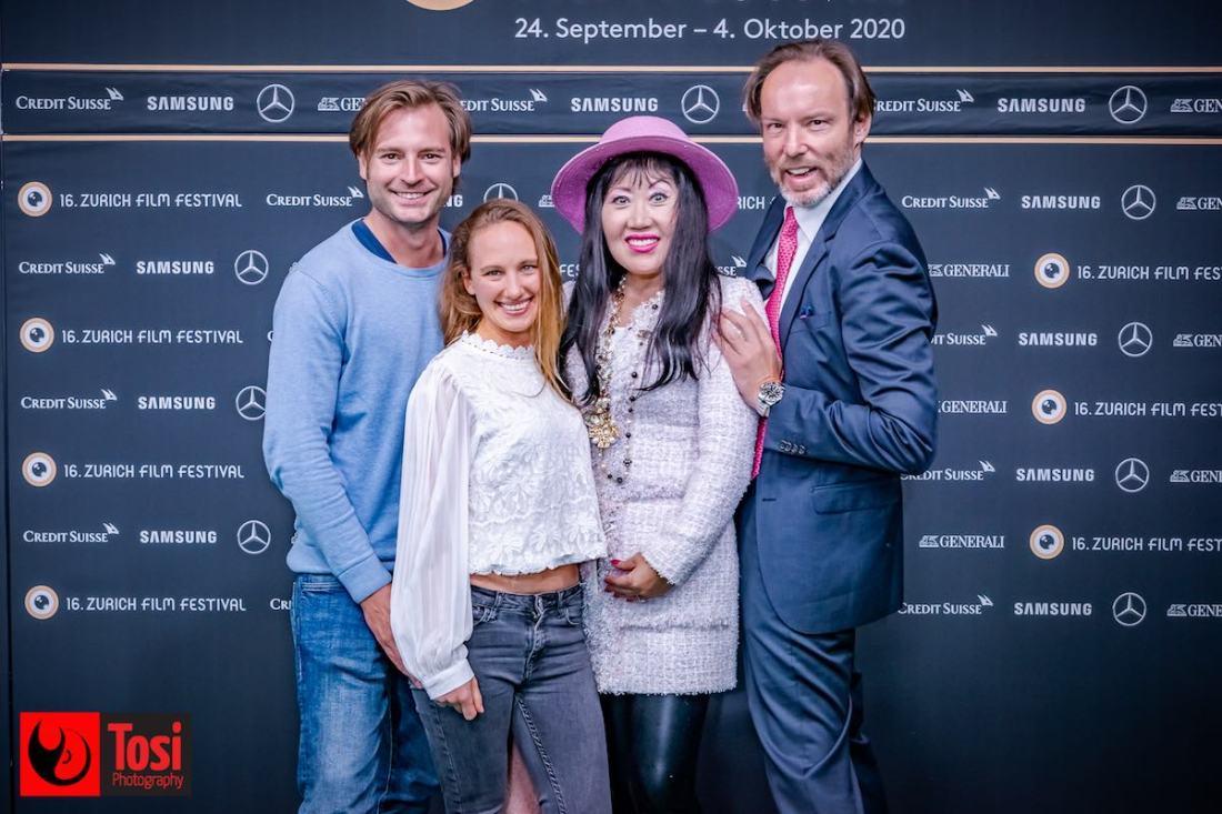 ZFF 2020 - actor Robin Czrny, actress Mara Luka, Sunny Moon and Johann Christian © Tosi Photography