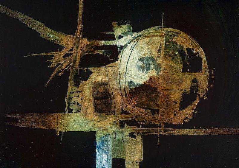 Luigi Pericle, Senza titolo (Matri Dei d.d.d.), 1966, tecnica mista su masonite. Collezione Biasca-Caroni. Foto © Marco Beck Peccoz.