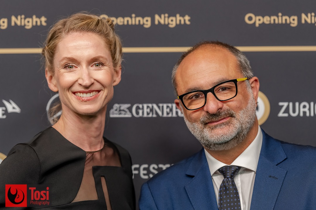ZFF2021 - Opening Night - Managing director SMP AG Elke Mayer and Artistic Director of the Locarno Film Festival Giona A. Nazzaro ©Tosi Photography