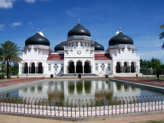 Masjid Raya Baiturrahman yang Berada di Aceh, Indonesia