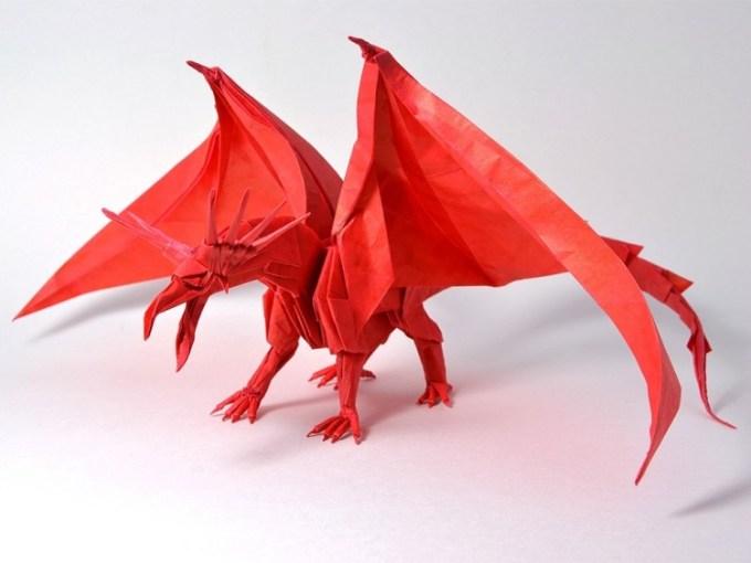 Origami berbentuk naga