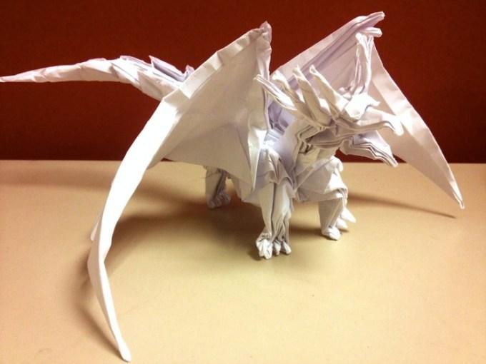 Origami Naga Putih Keren