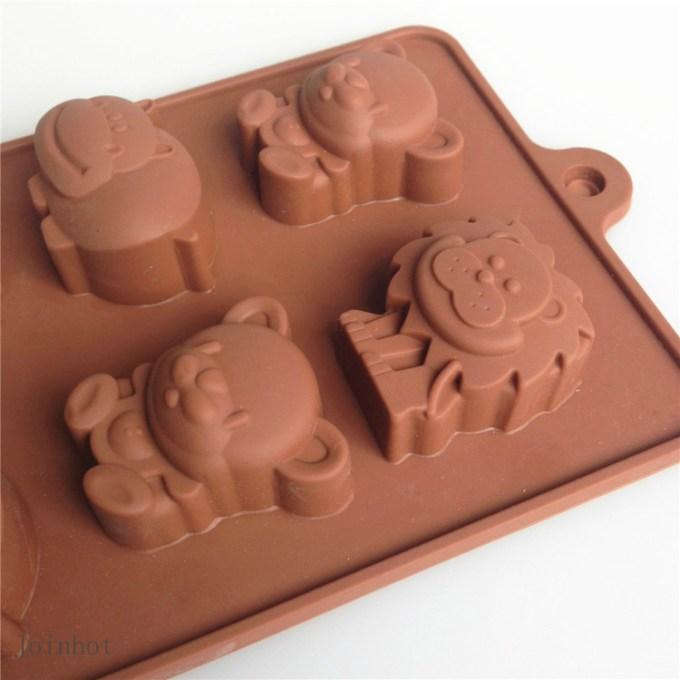cetakan coklat hewan