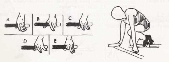 start dengan memegang tongkat estafet