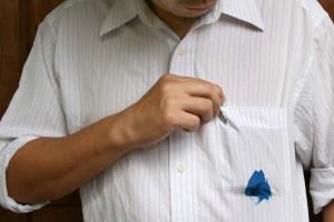 Noda tinta di baju