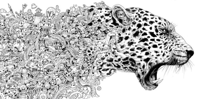 Gambar Doodle Hewan