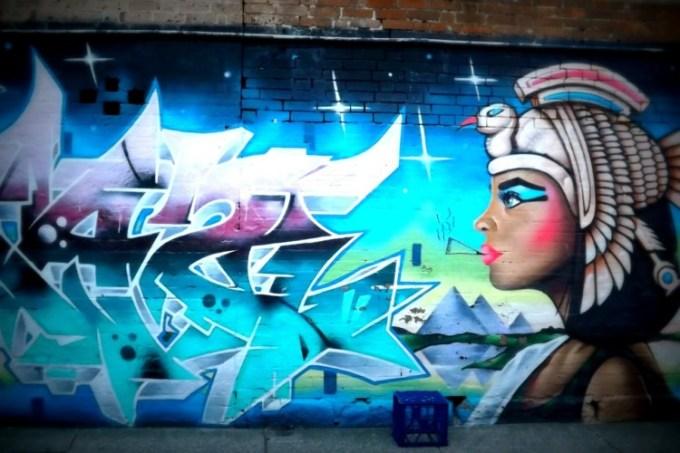Gambar grafiti Cleopatra