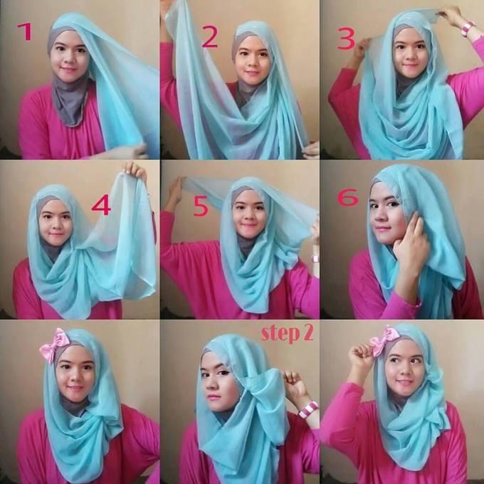 Hijab Paris Segi Empat