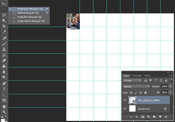 Menyeleksi foto untuk membuat foto mozaik