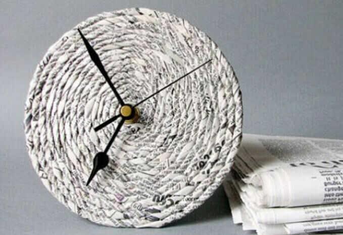 jam dinding dari koran - cara membuat kerajinan tangan dari koran bekas
