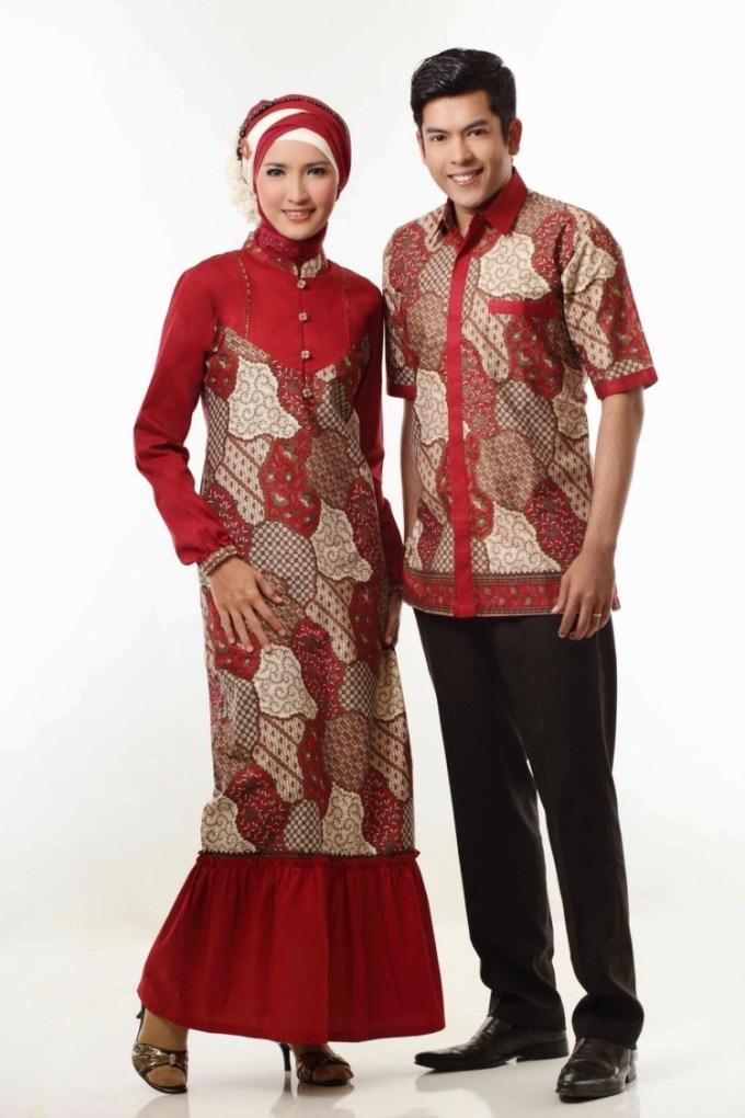 Batik Couple Kombinasi untuk Suami Istri