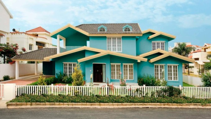 Perpaduan Warna Cat Rumah Hijau Tosca