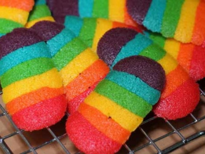 Resep lidah kucing rainbow