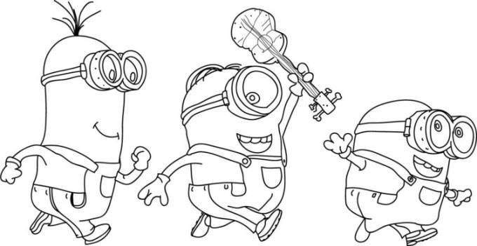 Gambar kartun minion