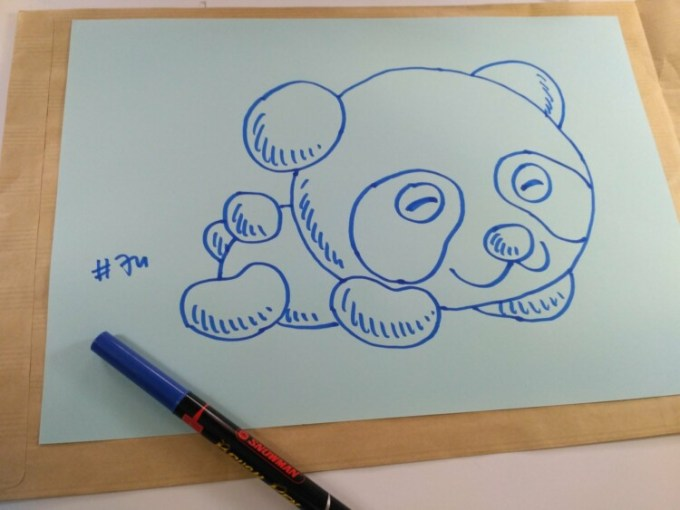 Sketsa panda