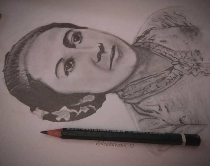 Sketsa wajah Kartini