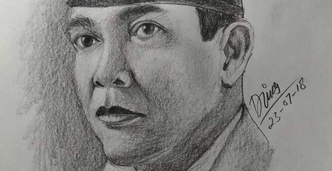 Sketsa wajah Soekarno