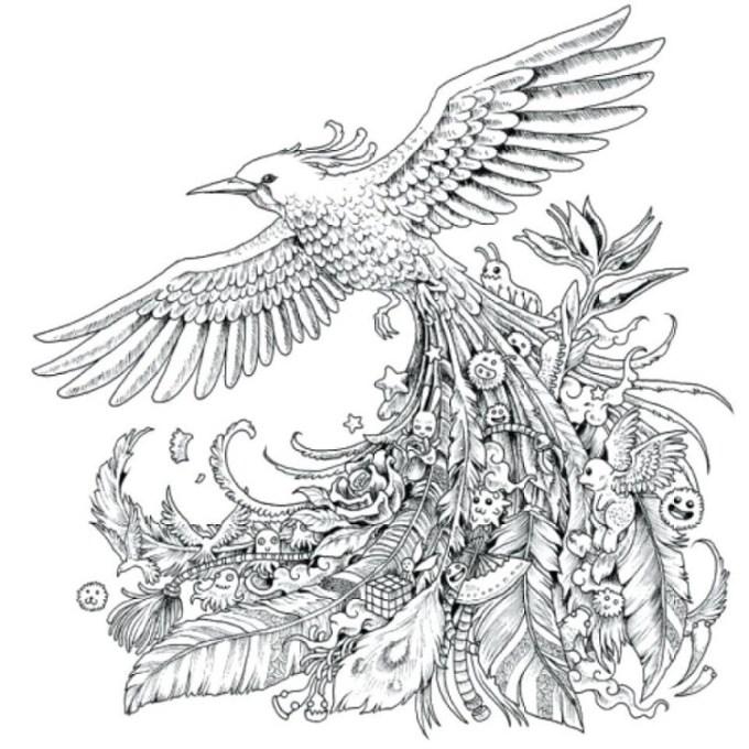 doodle gambar burung