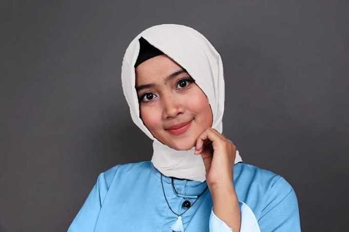 biru muda dan putih - baju biru muda cocok dengan jilbab warna apa