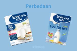 perbedaan susu tropicana slim low fat dan skim milk