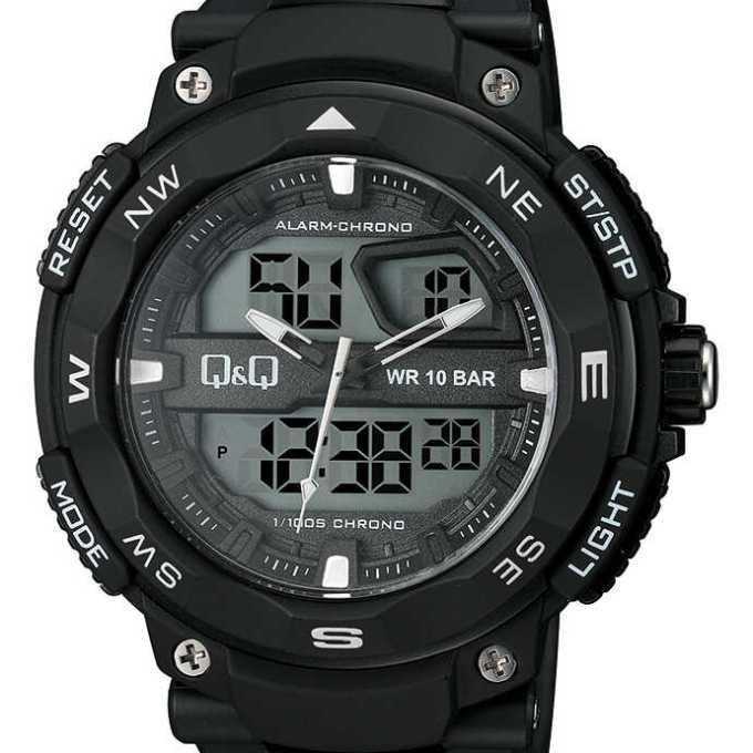 perbedaan jam tangan q&q digital asli dan palsu